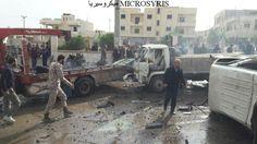 مفخخة توقع قتلى وجرحى في مدينة إعزاز شمال حلب