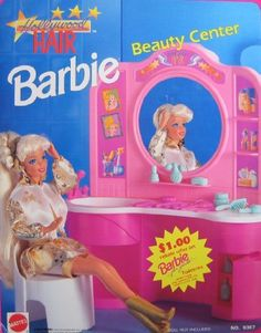 Hollywood Hair BARBIE Beauty Center Playset (1992 Arcotoys, Mattel) by Arcotoys, Mattel. $149.99