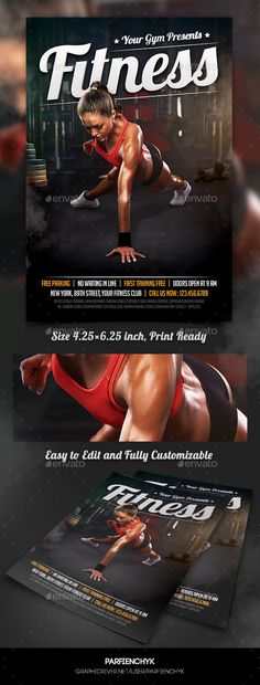 Fitness Flyer Flyer template, Template and Brochures - fitness flyer