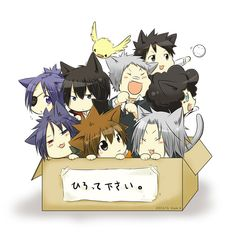 Tags: Anime, Katekyo Hitman REBORN!, Box, Lambo, Chrome Dokuro, Sawada Tsunayoshi, Hibird