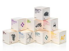 Packaging design for natural cosmetic line.  Grupo Habermas #packagedesign