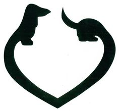 DACHSHUND DECAL HEART WIENER DOG