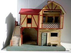 alte Puppenhaus Manufaktur TH. HEYMANN original um 1900 in Antiquitäten & Kunst, Antikspielzeug, Puppen & Zubehör | eBay