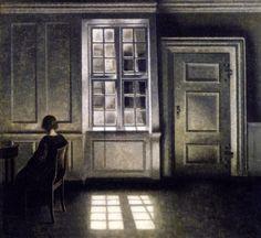 by Danish artist Vilhelm Hammershøi