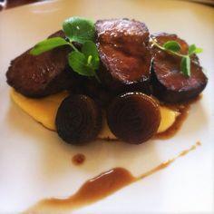 grain-fed porterhouse, braised short rib, smoked mash potato, beer, onions @ Carlton Wine Room