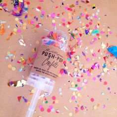 confetti push ups! love this idea! maybe birdseed instead?
