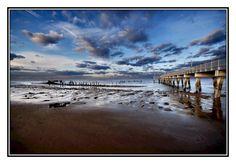 Receding Waters - Photograph at BetterPhoto.com Description: Nikon D200, Sigma 10-20mm, beach at sunset, Port Penn, DE.