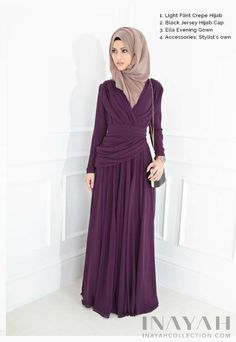 Ella Evening Gown - Exquisite rich purple toned gown, a statement dress for upcoming celebrations. www.inayahcollection.com #inayah#eveninggowns#modestgowns
