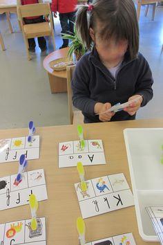 Actividad reconocimiento y asociación de letras/palabras