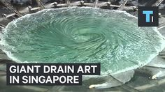 Giant Drain Art in Singapore