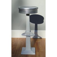 Candy Counter Bar Stool seating w Foot rest aluminum good for a man cave or 1950's style diner!
