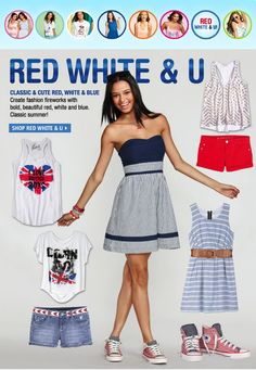 Red white and blue! dELiAs fashion trends for spring summer