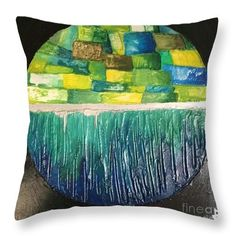 Eco-island Throw Pillow for Sale by Agota Horvath