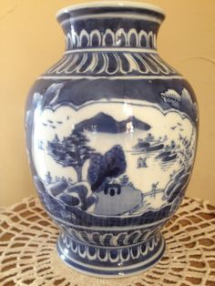 """Vintage Gorgeous China Blue and White by JoAnntiquesandArt on Etsy, $29.00 8"""" t"""