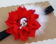Diadema ratón de Mickey. Cinta de Navidad. por SofiasBeautyCloset