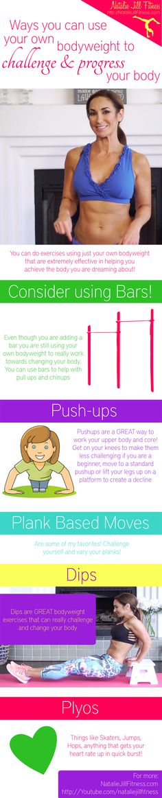 Body weight workout!!! Click on the image below for the FULL video!