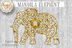 Mandala Elephant, Cut File ~ SVG/DXF/EPS/PNG   The Hungry JPEG