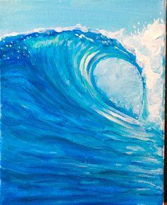 Acrylic on canvas by Newport Loft Surf Art Wave Art, Surf Art, Ocean Art, Art Plastique, Beach Art, Community Art, Surfer Magazine, Art World, Art Blog
