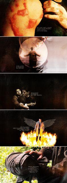 Dean + Castiel: Put me like a seal over your heart… #spn #destiel