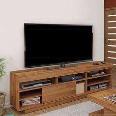Rack para TV até 50 Polegadas 1 Porta de Correr Treviso Rústico - Artely   Lojas KD