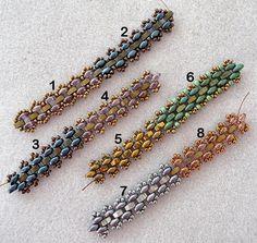 Linda's Crafty Inspirations: Playing with my beads...11/0 seed beads Miyuki .•Half Tila beads• SuperDuo beads.