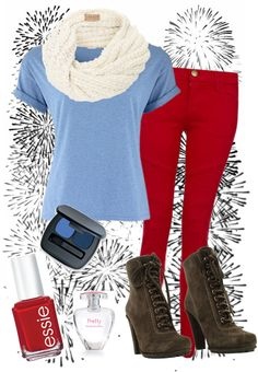 """""""4th of July outfit!"""" by winter0303 ❤ liked on Polyvore  Except that the fourth is in JULY AND IT'S HOT AS BALLS OUTSIDE."""
