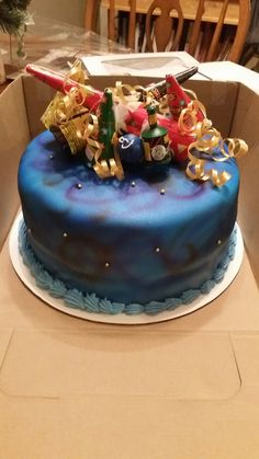 New years eve birthday cake