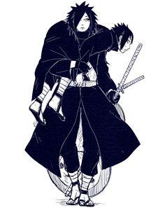 Madara Uchiha and Izuna Uchiha Naruto Oc, Kakashi, Anime Naruto, Hinata, Anime Guys, Nagato Uzumaki, Izuna Uchiha, Naruto Shippuden, Black Bullet