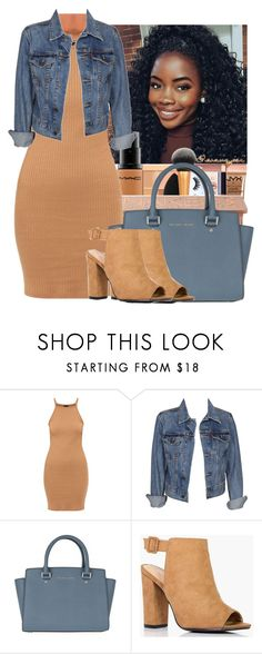 """"" by wavyjai ❤ liked on Polyvore featuring Levi's, MICHAEL Michael Kors and Boohoo"