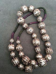 Yemenite beads. Threaded by Carla Alicata.
