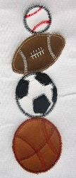 Sportsballs Loose Weave Applique - 3 Sizes! | Baseball | Machine Embroidery Designs | SWAKembroidery.com Band to Bow