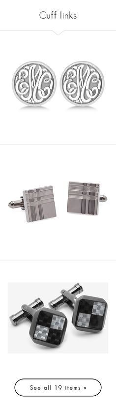"""Cuff links"" by domino-80 ❤ liked on Polyvore featuring accessories, black, christian dior, men's fashion, men's accessories, cuff links, silver, mens cuff links, gunmetal and ted baker"