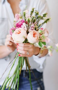 pink flowers bouquet, pink roses, pink ranunculus, bouquet, I love flowers