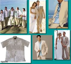 Groom and Groomsmen outfits for beach wedding