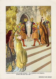 Tales From Shakespeare. Published by Šolc & Šimáček in Prague(1923). Illustrated by Artuš Scheiner.