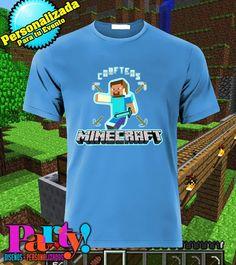 Playera Personalizada Minecraft  Jinx, playera, fiesta, personalizada, evento, ropa, camiseta, cumpleaños, programa, niños, trajes