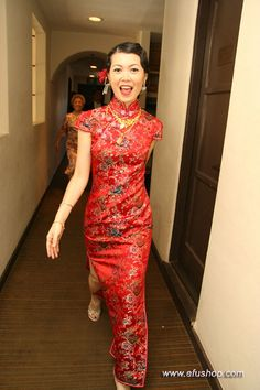 Cathy Wong - Custom-made Cheongsam,Chinese clothes, Qipao, Chinese Dresses, chinese clothing,EFU Tailor Shop