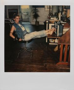 Madonna Polaroids by Richard Corman, 1983