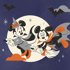 Mickey Halloween Party, Halloween Art, Happy Halloween, Halloween Movies, Disney Halloween, Disney Art, Disney Movies, Disney Pixar, Walt Disney