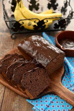 Czekoladowy chlebek bananowy bez glutenu i cukru Chocolate Cake, Cake Recipes, Clean Eating, Deserts, Food And Drink, Low Carb, Gluten Free, Sweets, Healthy Recipes