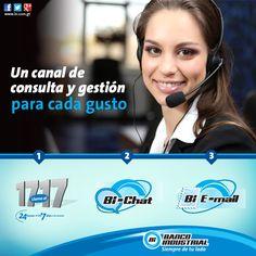 Un canal de consulta y gestión para cada gusto. #1717 #BiChat #BiEmail #ContactCenterBi #BancoIndustrial #ProductosYServicios