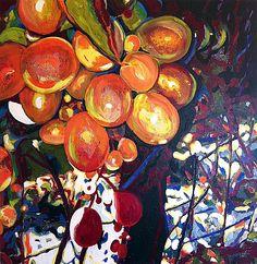 "Vineyard Light - 36"" x 36"" acrylic on canvas by Steve Gamba"