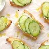 Image result for cucumber crostini