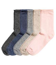 5-pack Socks | Beige | Ladies | H&M US
