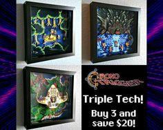 Chrono Trigger Triple Tech  Shadow Box 3 Pack by Decor8bitArt