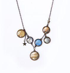 Ilianne | Jewelry Made of Love - Solar System Necklace Solar System, Polymer Clay, Jewelry Making, Pendant Necklace, Sistema Solar, Solar System Crafts, Jewellery Making, Drop Necklace, Make Jewelry