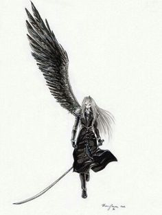 One winged angel .