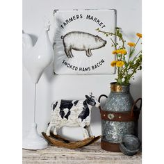 Litton Lane Barnyard Animal Metal Decorative Sign