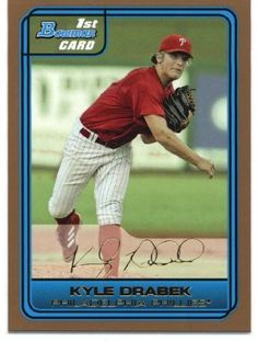 2006 Bowman Draft Draft Picks Gold 46 Kyle Drabek - Philadelphia Phillies (RC - Rookie Card Parallel - XRC - Extended Rookie Card) (Baseball Cards) * Visit the image link more details.