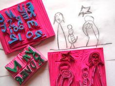 Stamp  TURN KIDS DRAWING INTO STAMP
